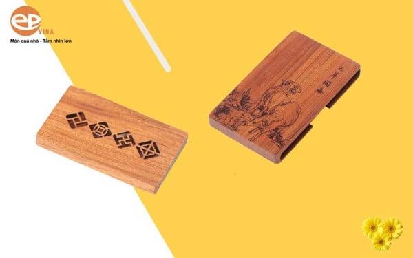 Hộp đựng Name Card bằng gỗ nhã nhặn, lịch sự