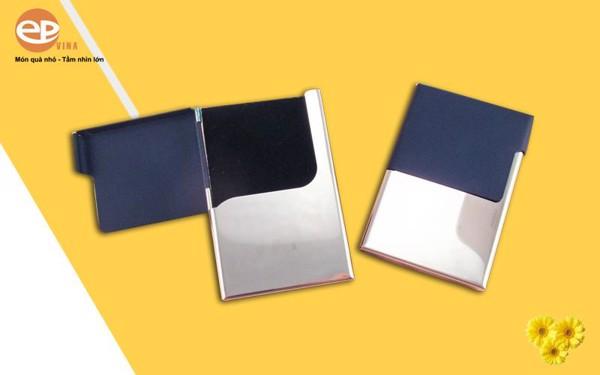 Hộp đựng Card Visit cao cấp được làm từ Inox phối da