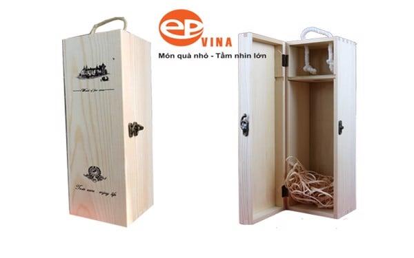 hộp đựng rượu bằng gỗ đơn