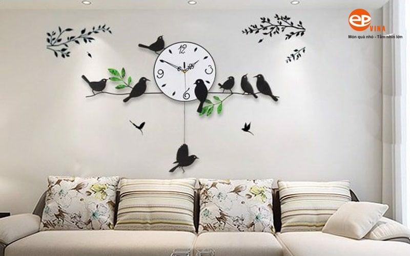 mẫu đồng hồ trang trí phòng khách đẹp