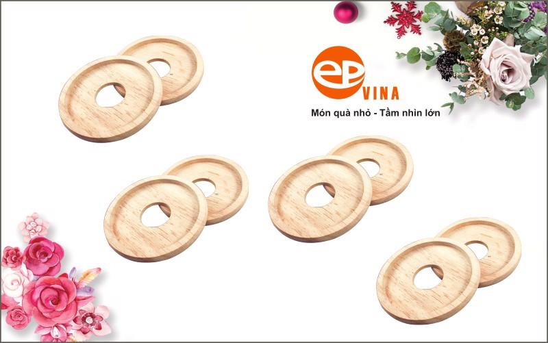Sản phẩm đế lót ly được làm từ gỗ thịt có độ bền bỉ cao, sang trọng