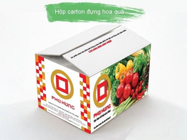 Hộp carton sóng đựng hoa quả