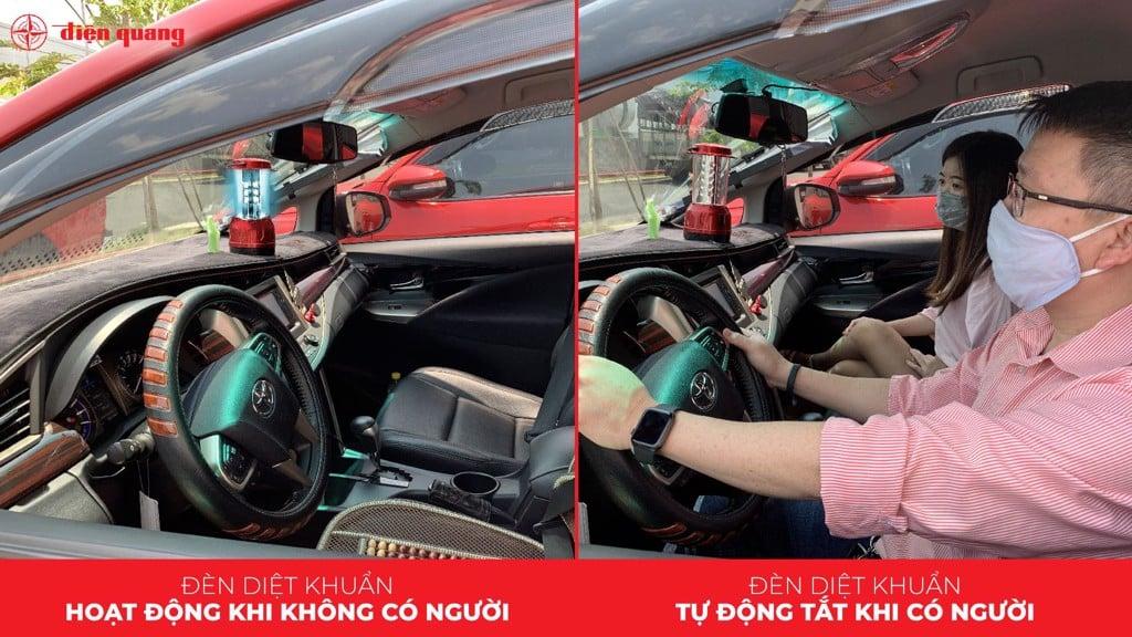 Đèn led diệt khuẩn trong xe hơi