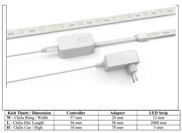 Bộ LED dây thông minh Điện Quang Apollo ĐQ SLS1.1 02 WiF