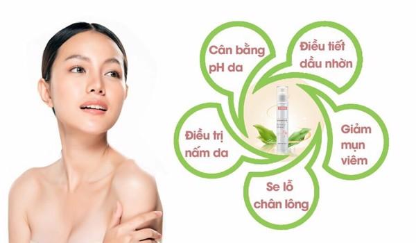 Công dụng điều tiết  da dầu