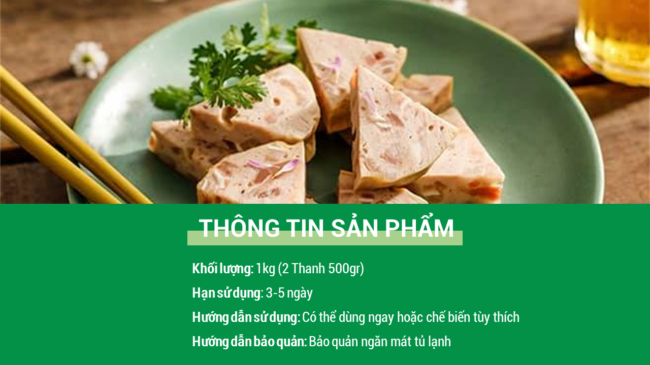 Giò Lụa Ớt Xanh I Foodmap
