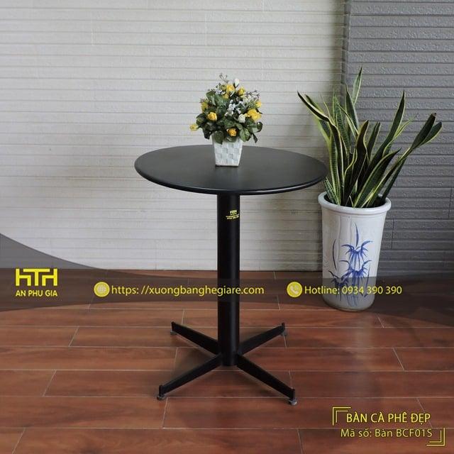 bàn sắt cafe BCF01S thiết kế đẹp