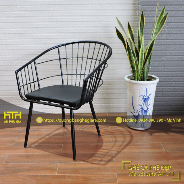 Bộ bàn ghế sofa cafe APG11 sang trọng