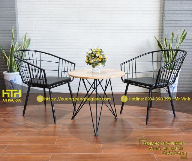 Bộ bàn ghế sofa cafe APG11 thiết kế đẹp