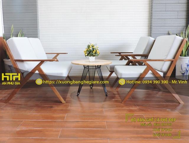 Bộ bàn ghế sofa cafe SF04 rẻ bền đẹp