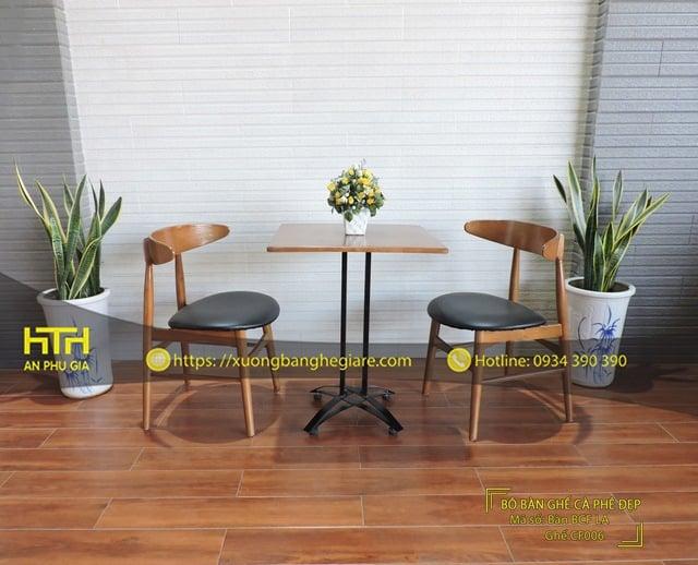 Ghế gỗ cafe CF006 ấn tượng