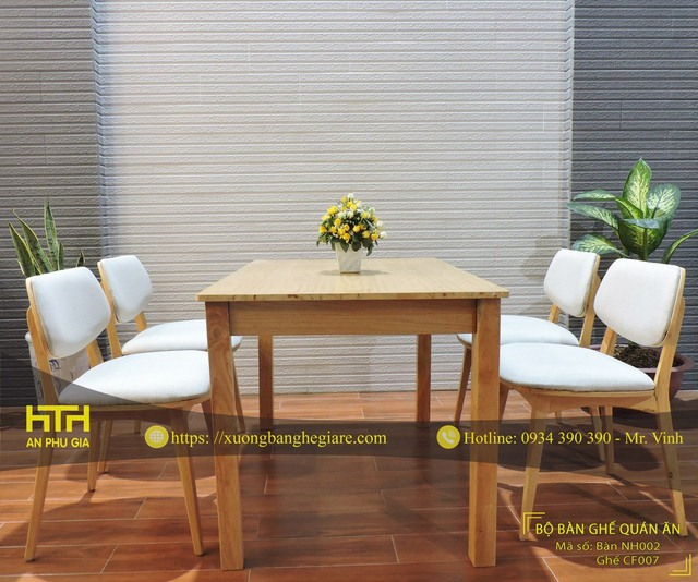 Ghế gỗ cafe CF007N tinh tế