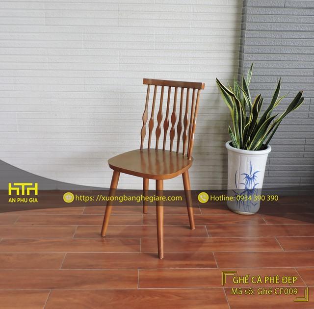 ghế gỗ cafe CF009 hiện đại