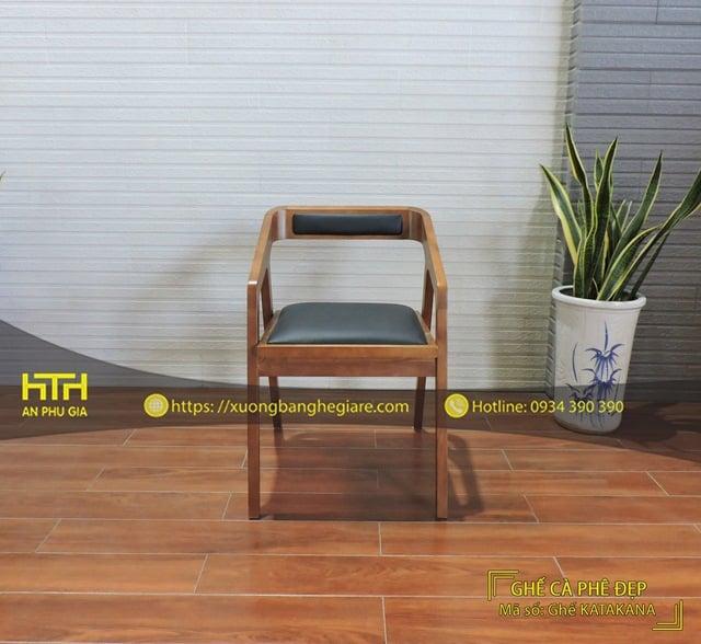 Ghế gỗ cafe Katakana tinh tế