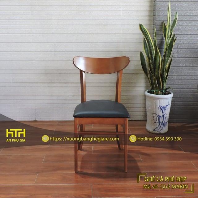 Ghế gỗ cafe Mabin hiện đại
