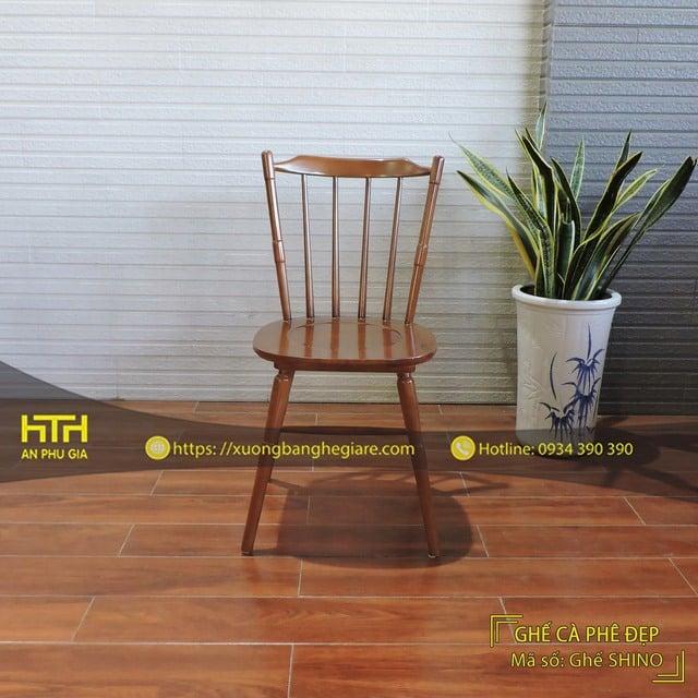 Ghế gỗ cafe Shino hiện đại