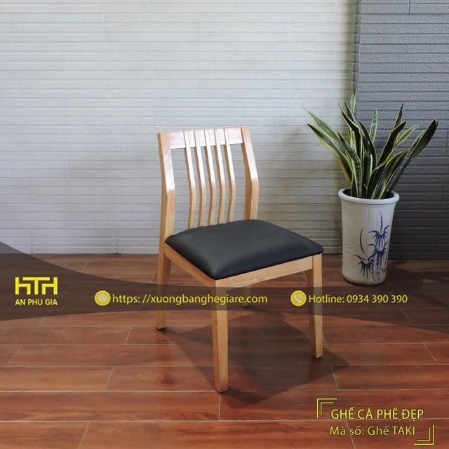 Ghế gỗ cafe Taki kiểu dáng đẹp