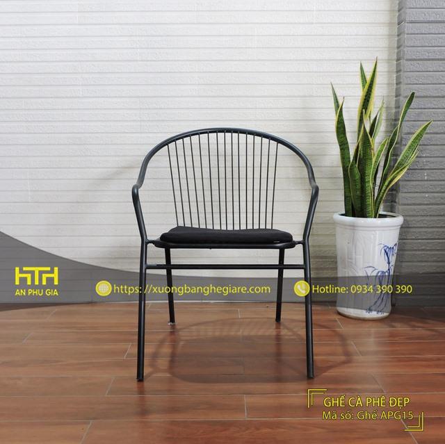 Ghế sắt cafe APG15 kiểu dáng đẹp