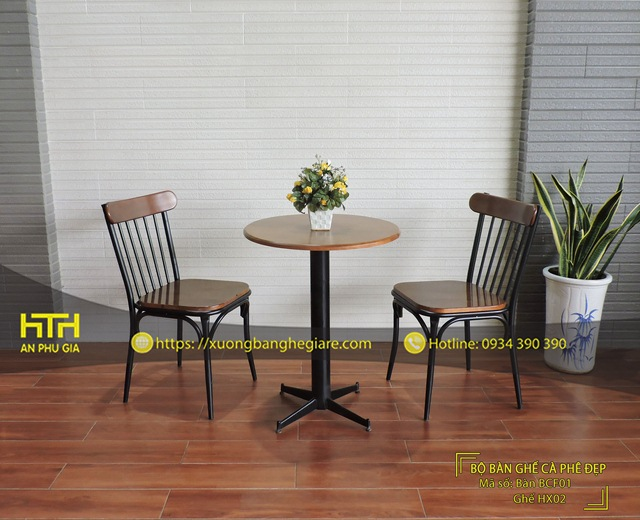 Ghế sắt cafe HX02 đơn giản