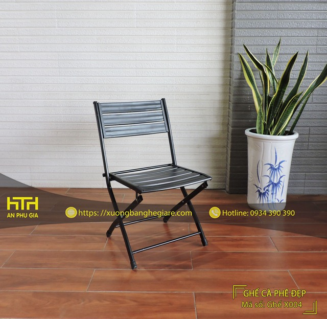 Ghế xếp cafe X004 thiết kế đẹp