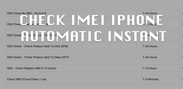 CHECK IMEI IPHONE AUTOMATIC