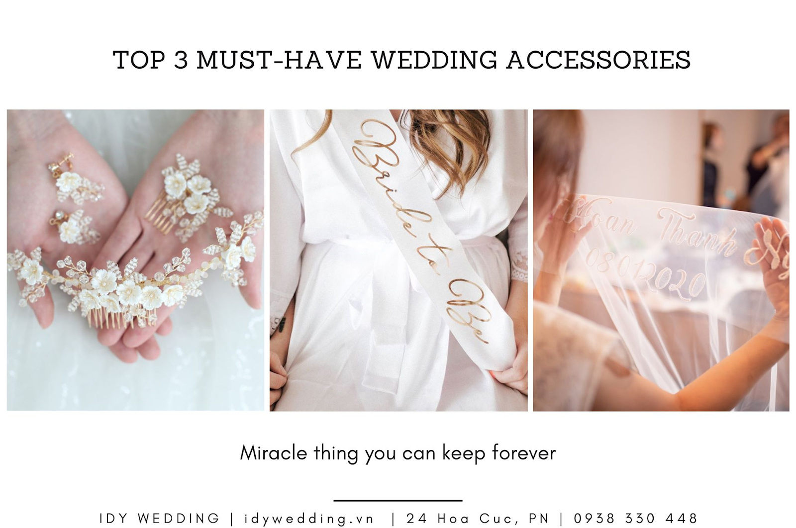 TOP 3 MUST-HAVE WEDDING ACCESSORIES
