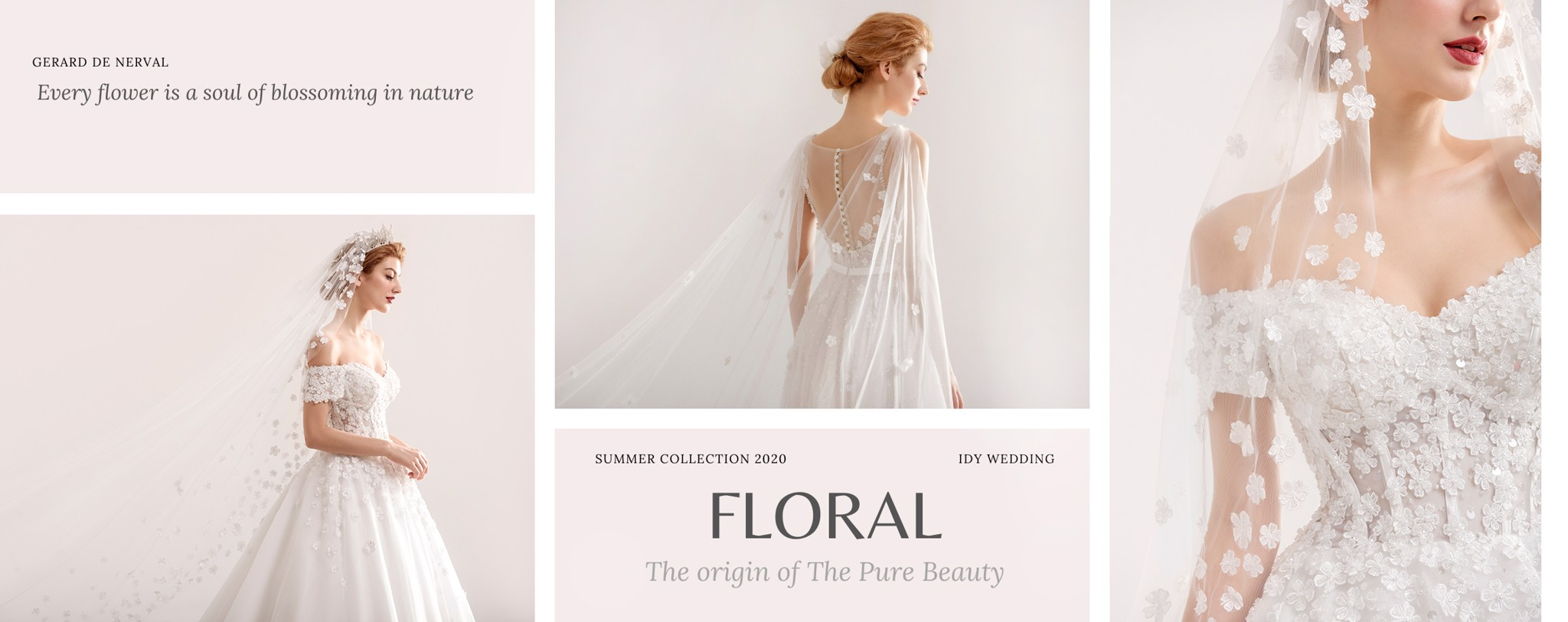 IDY WEDDING FLORAL COLLECTION 2020 KHỞI NGUYÊN CỦA VẺ ĐẸP THUẦN KHIẾT (The Origin of the Pure Beauty)
