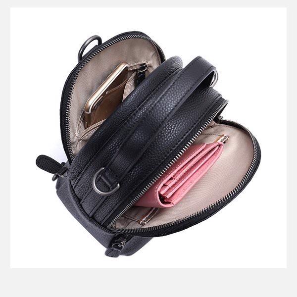 Balo da nữ mini thiết kế nhỏ gọn đựng được nhiều vật dụng quan trọng khi ra ngoài