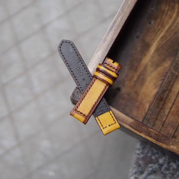 Dây đeo đồng hồ da bò may tay thủ công - TC10