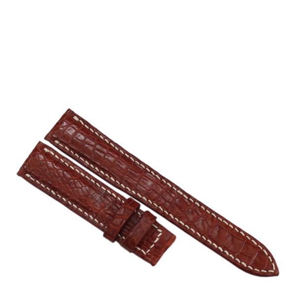 Dây đồng hồ da cá sấu may thủ công tinh tế thời trang - 1127