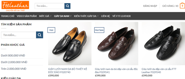 #15 shop giày da nam công sở cao cấp uy tín nhất tại Hà Nội