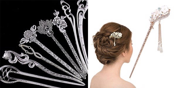 Tặng cài tóc trăm cài tóc đẹp cho phụ nữ trung niên