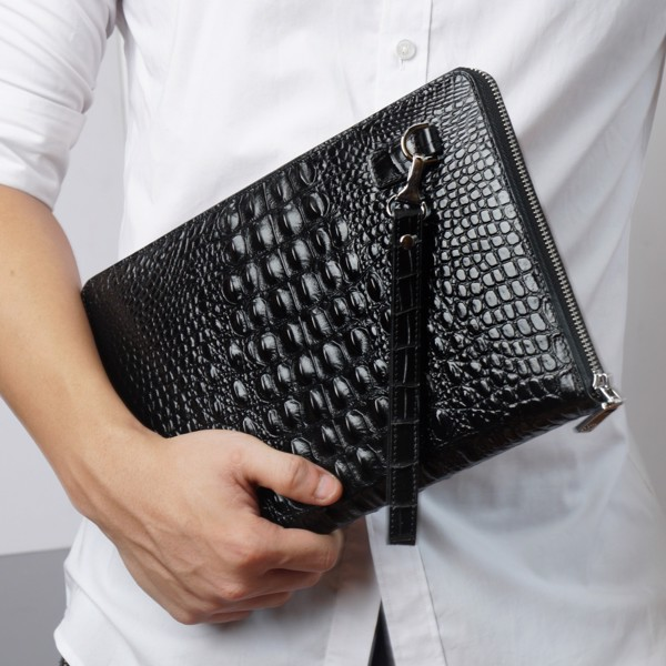 Túi ví cầm tay Clutch da cá sấu