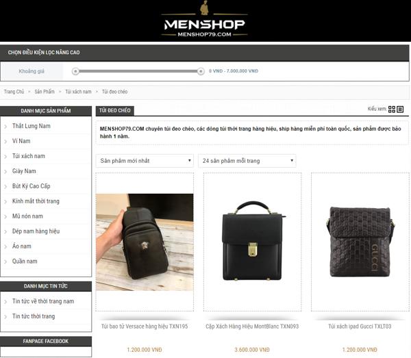Túi đeo chéo Menshop79