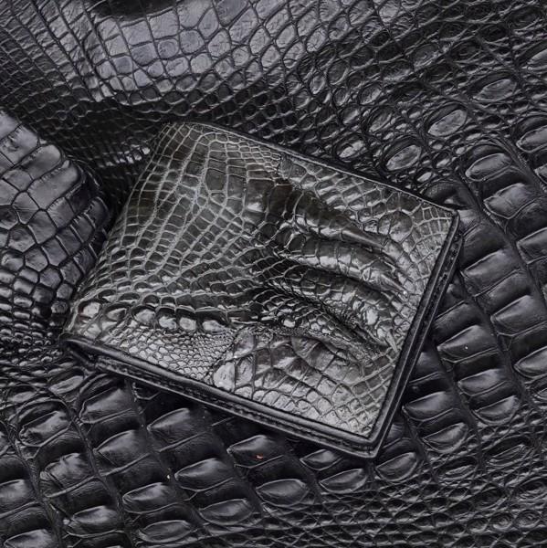 ví da cá sấu màu xám bạc