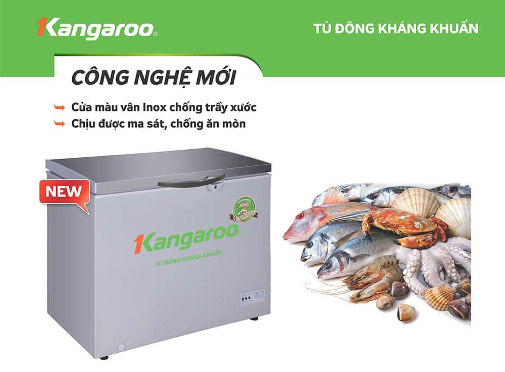 Tủ đông kháng khuẩn Kangaroo KG235VC1 235L 1 ngăn 1 cánh