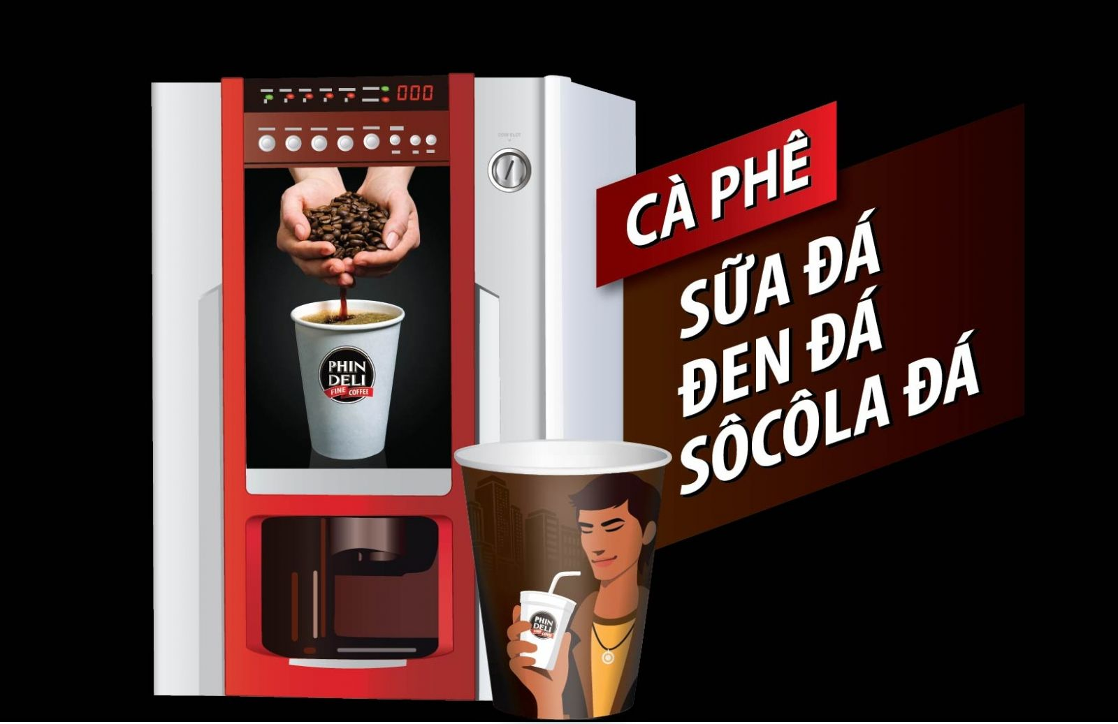 Ly Cafe Socola Phindeli 4 in 1 (Take away - mang đi)