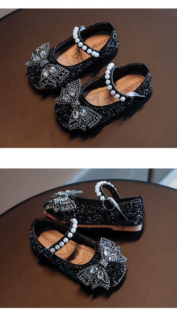 giày búp bê đính cườm cho bé gái