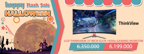 LCD THINKVIEW 27 INCH G270 CONG 165Hz GAMING MONITOR NGÀY HỘI MA