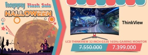 LCD THINKVIEW 32 INCH G320 CONG 165Hz GAMING MONITOR NGÀY HỘI MA