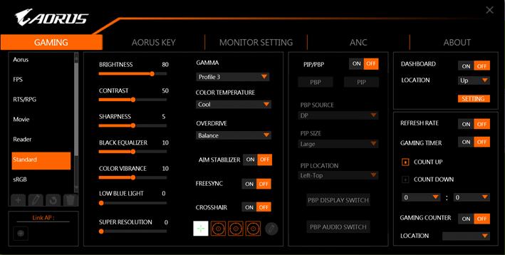 Tính năng AORUS KD25F Gaming 240Hz 0.5ms ( TN 25