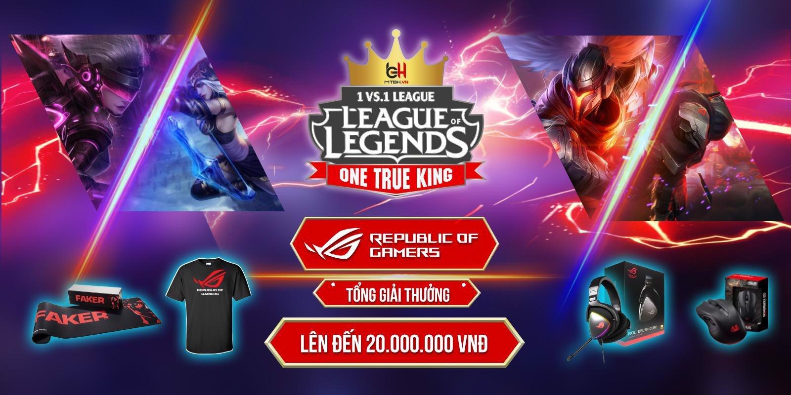[MTBH.VN - League of Legends] Công bố giải đấu solo 1 vs. 1 -