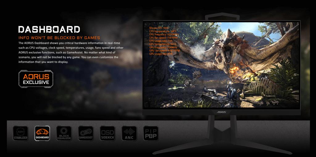 chức năng nổi bật của Màn hình AORUS KD25F Gaming 240Hz 0.5ms ( TN 25