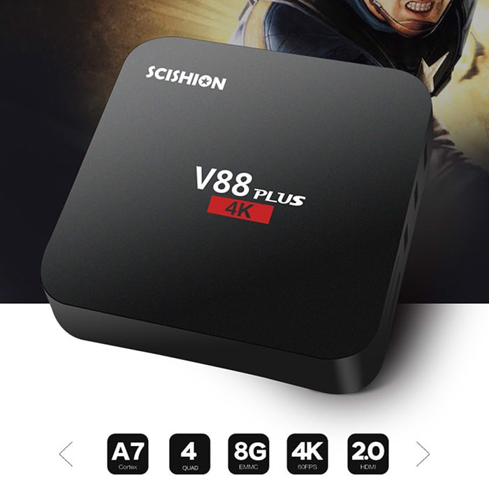 Đánh giá android box Scishion V88 Plus ram 2gb