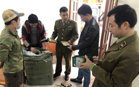 Seizure of 14,000 packages counterfeiting trademark Knorr in Lang Son province