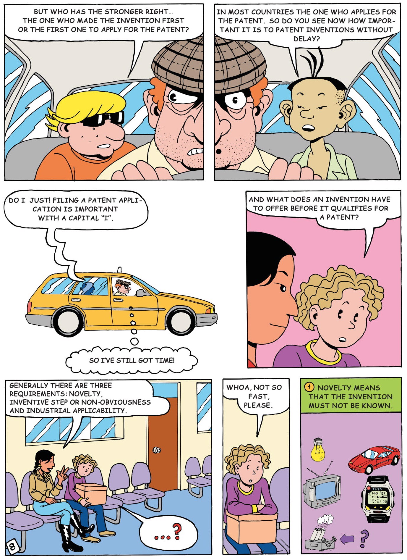 explain inventions by comic story for kids