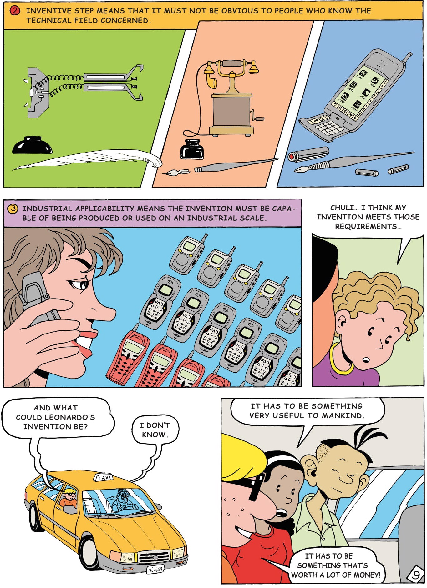 basic patent invention by comic for student