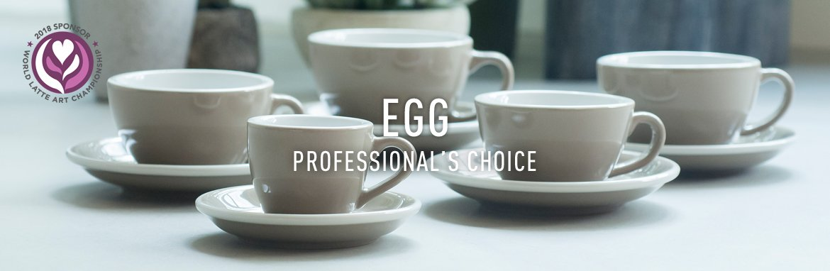 Egg coffee cups