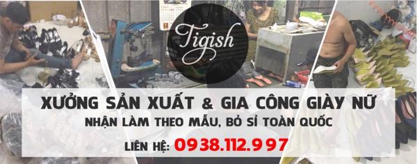 Xưởng giày Tigish là xưởng sản xuất giày cao gót chuyên sỉ giày dép Hà Nội và HCM