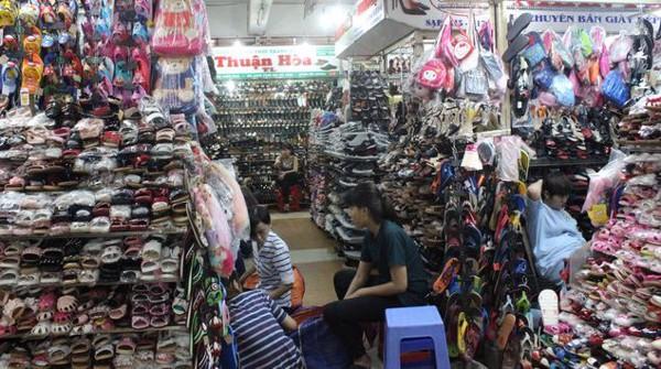 sỉ giày chợ An Đông